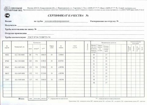Сертификат на трубы с гостом 8734 сертификация оборудования грузоперевозки москва магнитогорск